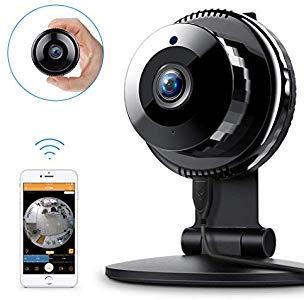 FREDI HD WiFi Caméra IP Surveillance Sécurité à la Maison Vision nocturne Détection de Mouvement Audio Bidirectionnel pour Animaux/Bébé – Correct